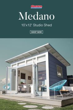 Backyard Guest Houses, Backyard Office, Backyard Studio, Backyard Sheds, Backyard Patio, Container House Design, Tiny House Design, Outside Living, Outdoor Living