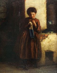 Knitting for the Soldiers (1861) - oil on mill board. New York Historical Society collection.