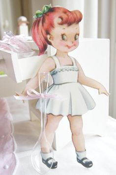 Vintage Paper Doll 1st Birthday Party