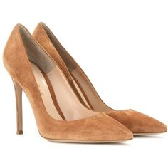 Gianvito Rossi Suede Pumps (920 CAD) ❤ liked on Polyvore featuring shoes, pumps, heels, gianvito rossi, high heels, brown, heels & pumps, brown pumps, high heel pumps and suede pumps