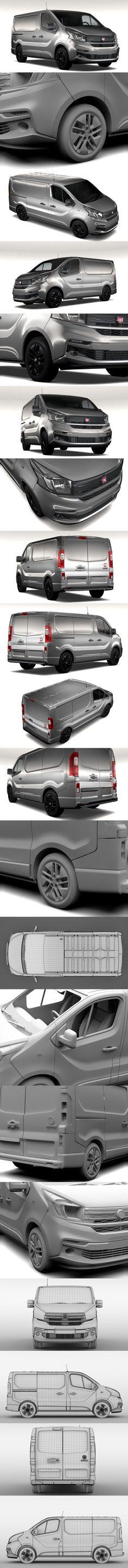 Fiat Talento Van L1 2017. 3D Vehicles