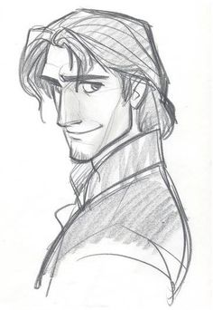 Living Lines Library: Tangled - Character: Flynn Ryde.-Living Lines Library: Tangled – Character: Flynn Ryder Living Lines Library: Tangled – Character: Flynn Ryder - Cartoon Drawings, Drawing Sketches, Art Drawings, Sketching, Drawing Tips, Animation Sketches, Drawing Faces, Sketch Art, Disney Kunst