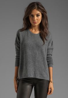 360 SWEATER Corrine Cashmere Pullover in Heather Grey/Heather Camel at Revolve Clothing - Free Shipping!