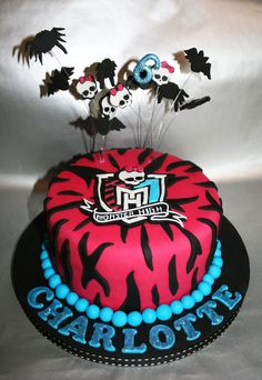Monster High themed cake. Chocolate cake with chocolate buttercream, thanks for looking!