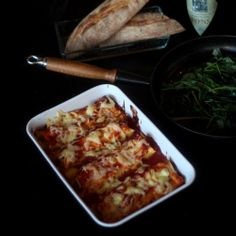 Chicken cannelloni with basil and fresh home made tomato sauce. II The House by the Sea.