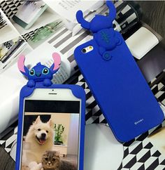 IPHONE 6 6S 3D Cartoon Stitch Lilo Hide-seek Soft Silicone Case