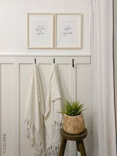 Bathroom Accent Wall, Bathroom Accents, Bathroom Art, Bathroom Ideas, Accent Walls, Small Bathroom, Bathroom Hooks, Master Bathroom, Board And Batten