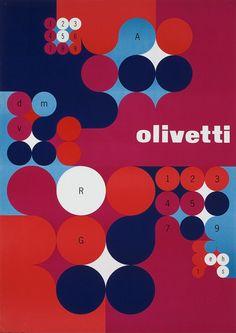 Anna Monika Jost, poster design, 1966. lng. C. Olivetti & C.S.p.A., Ivrea, Italy. Plakatkontor.de