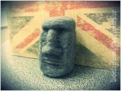 Needle felted Easter Island head by BeckyandtheMonster on Etsy, £13.00