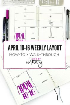 How-to Walk-through of how to transfer these spreads into your own journal! More at lifebywhitney.com. #LifebyW