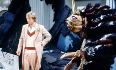 The Fifth Doctor and the Gravis from Frontios