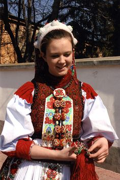 Traditional costume and jewelry, including a beaded headdress, are still worn for important occasions in Kalotaszeg, Transylvania (Romania). Photo courtesy of Tekla Tötszegi