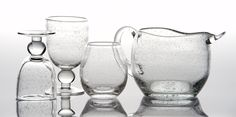 $41 St Remy Bubble Stemless Glass Clear Set of 4