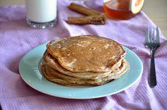 Orkiszowe placuszki cynamonowe Spelt Pancakes, Cinnamon, Breakfast, Food, Canela, Morning Coffee, Essen, Meals, Yemek