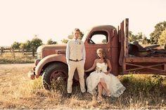 Love the old truck!!  http://wedding.allwomenstalk.com/country-rustic-wedding-theme-ideas/2/