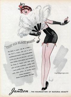 "vintageads:""That Old Black Magic"" Jantzen 1944"