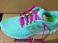 Nike Free Run 3 Womens Tropical Twist Reflect Silver Pure Platinum Rose Lace Shoes