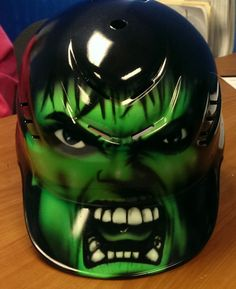 Hey, I found this really awesome Etsy listing at https://www.etsy.com/listing/214126602/airbrush-hulk-helmet
