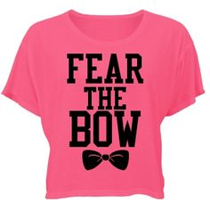 Fear The Bow Misses Bella Flowy Boxy Lightweight Crop Tee $24.97 #cheer #cheerleading #bow #neon