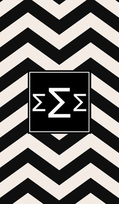 Sigma Sigma Sigma black  white. iPhone monogram background.