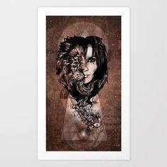 A slave's true king's heart Art Print by ivette - $18.72