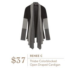 Stitch Fix Fall 2016 - Renee C, Thisbe Colorblocked Open Draped Cardigan