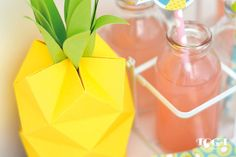 Ananas en papier - étape 9