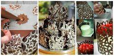 Dantela fina si alte ornamente din ciocolata - Invatam din aceste idei practice cum se fac si cum se decoreaza prajiturile de casa Chocolate Bomb, Cookie Decorating, Candle Holders, Sweets, Candles, Cookies, Cake, Food, Decoration