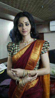 Pattu saree with checks blouse