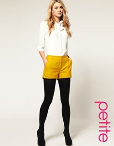 have the white dress shirt, back tights and pumps...just need the yellow shorts