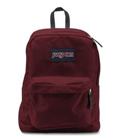 Jansport Superbreak Backpack - Viking Red Available at  www.canadaluggagedepot.ca Lightweight Backpack bc2eb7d7dff04