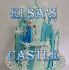 Frozen Cake - Elsa's Castle (How to make) : easier than you would think!