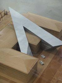 Wettbewerbsmodell von Daniel Libeskind