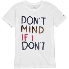 Juniors RVCA Vintage White Don't Mind T-Shirt