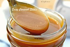 Easy Caramel Sauce ~ Stove top, 15-minute, no corn syrup caramel sauce with just a few simple ingredients ~ The Complete Savorist