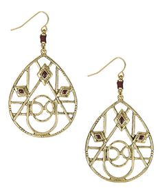 Take a look at this The Sak Gold & Sangria Filigree Teardrop Earrings on zulily today!