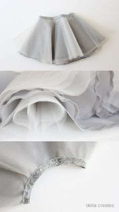 delia creates: Gray Day Tulle Skirts. Super cute little baby circle skirt #tulleskirtsdiykids