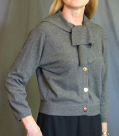 Vintage 1950's Cashmere Cardigan Sweater by MJGTreasures on Etsy