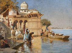 Orientalism Art: Edwin Lord Weeks 'Along the Ghats at Mathura'