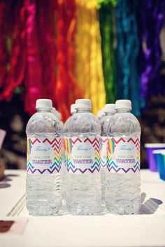 DIY Printable Water Bottle Labels  Hot Air by paigesofstyle, $7.00