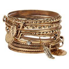 ALDO Yuille Bracelet ($15) ❤ liked on Polyvore featuring jewelry, bracelets, gold, gold jewellery, aldo jewelry, aldo, gold bangles and yellow gold bangle