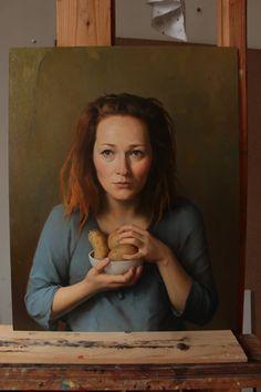 Portrét,2016,olej/plátno na desce