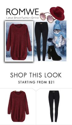 """""""SWEATER WEATHER with ROMWE.com"""" by teez-biz-nez ❤ liked on Polyvore"""