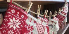 Just Crafty Enough – Mitten Garland Advent Calendar Pattern Index Advent Calenders, Diy Advent Calendar, Calendar Ideas, Knitting Machine Patterns, Knitting Charts, Mittens Pattern, Knit Mittens, Knitting Projects, Knitting Ideas
