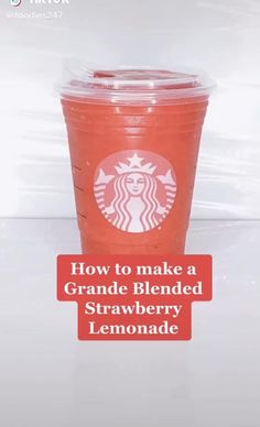 This Copycat Starbucks recipe is super delicious and has the perfect amount of sweet and tartness to this lemonade!!