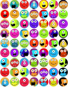 INSTANT DOWNLOAD digital collage sheet monsters one by kpmdoodles