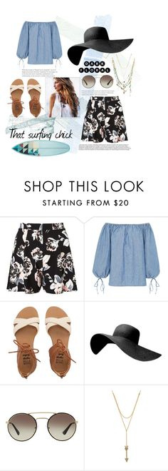 """""""That Surfing chick"""" by the-crazy-dog-lover ❤ liked on Polyvore featuring Miss Selfridge, MDS Stripes, Billabong, Prada, Rebecca Minkoff and Alexis Bittar"""