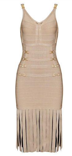 Designer Clothes, Shoes & Bags for Women Bandage Dresses, Gold Dress, Day Dresses, Dresses For Sale, White V Neck Dress, Posh Girl, Dress First, Clubwear