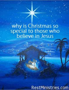 WHY IS CHRISTMAS SO SPECIAL TO THOSE OF US WHO BELIEVE in Jesus? Because it is the moment that God became one with us, living among us.