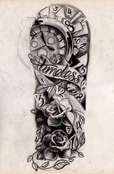 Rose and butterfly Sleeve Tattoos for Girls   New Tattoo Pictures